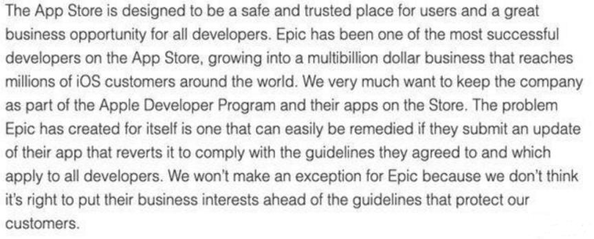 苹果与Epic冲突升级:将禁止开发工具,虚幻引擎开发者或受影响2.png